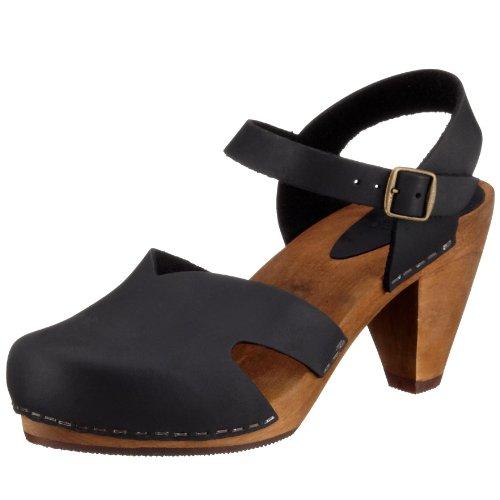 Sanita Damen Wood-Ulrika Cone Sandal Pantoletten, Schwarz (Black 2), 36 EU