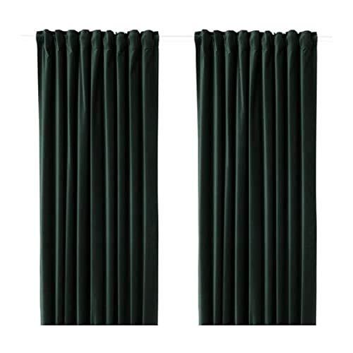 IKEA Sanela Curtains 1 Pair Dark Green 504.140.93 Size: 55x98
