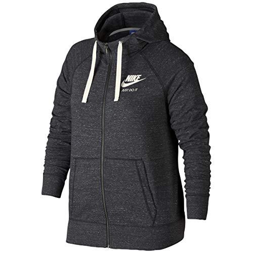 Nike Womens Plus Sweatshirt Fitness Hoodie Gray 1X