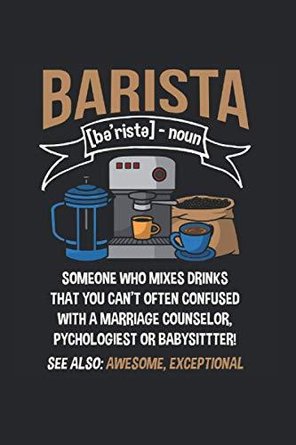 Notizbuch: Lustiger Barista Witz Koffein Kaffee Espresso Liebhaber Notizbuch DIN A5 120 Seiten für Notizen Zeichnungen Formeln | Organizer Schreibheft Planer Tagebuch