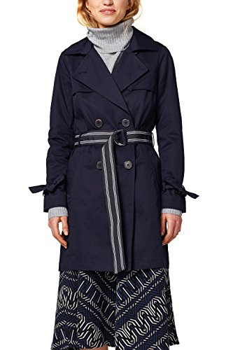 edc by ESPRIT Damen 018CC1G014 Mantel, Blau (Navy 400), Small