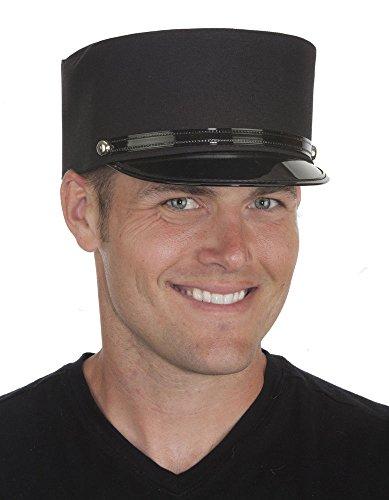 Train Conductor Gendarme French Police Man Hat Porter Brakemans Costume Cap (Medium)