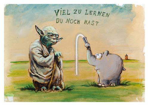Postkarte A6 +++ OTTO von modern times +++ VIEL ZU LERNEN DU NOCH HAST +++ MODERN TIMES © Ottifant Productions GmbH
