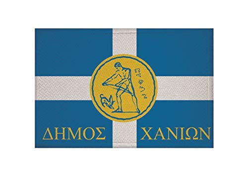 U24 Aufnäher Chania Kreta Griechenland Fahne Flagge Aufbügler Patch 9 x 6 cm
