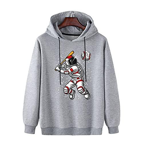 SSBZYES Suéter para Hombre Sudadera con Capucha para Hombre Camiseta De Manga Larga Informal De Gran Tamaño para Hombre Camiseta con Capucha para Hombre Suéter con Estampado De Astronauta