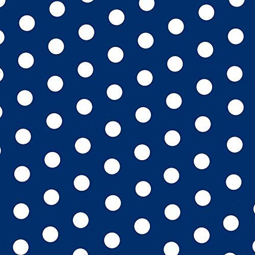 MOOXIBIKE Polka Dot blau Mini Fahrradfolie mit Muster für Rennrad, MTB, Trekkingrad, Fixie, Hollandrad, Citybike, Scooter, Rollator für circa 13 cm Rahmenumfang