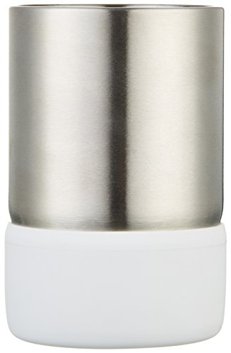 AmazonBasics - Vaso, acero inoxidable, Blanco