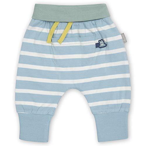 Sigikid Baby-Jungen Classic Hose aus Bio-Baumwolle für Kinder, Blau-Weiß/Steifen, 62