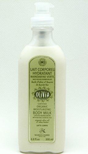 Olivia Bio Bodylotion mit Olivenöl und Sheabutter, 200 ml Flasche mit Spender/Pumpe - trockene, reife , empfindliche Haut