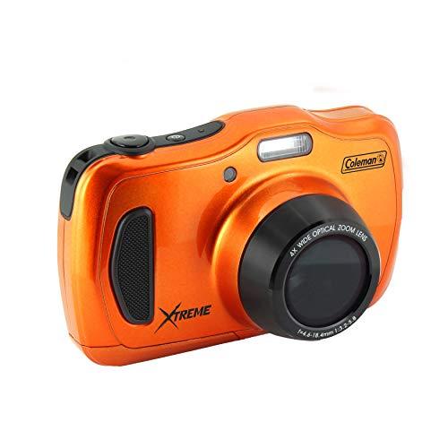 "Coleman 20.0 Mega Pixels Waterproof HD Digital Camera with 4X Optical Zoom & 3"" LCD Screen, Orange (C30WPZ-O)"