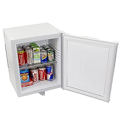 ChillQuiet Silent Mini Fridge 24ltr White - Completely Quiet Mini Bar, Ideal for Hotels and B&Bs by Bardrinkstuff
