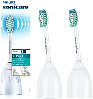 Genuine Philips Sonicare E-Series replacement toothbrush heads, HX7022/66, 2-pk