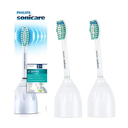 Philips Sonicare HX7022/66 Genuine E-Series replacement toothbrush heads, 2-pk