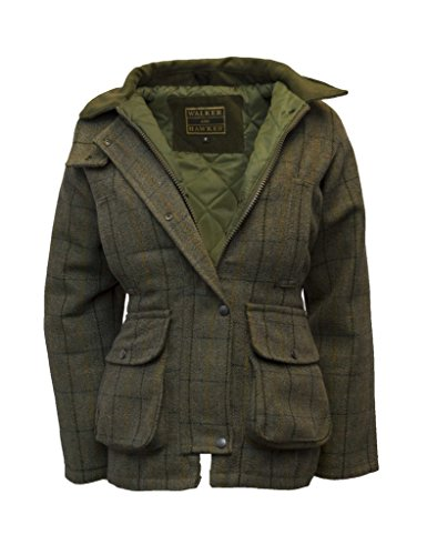 Walker and Hawkes Damen Country-Jacke aus Tweed - für die Jagd geeignet - Dunkelblau - Größe EU 36 (UK 8)