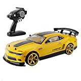 Remote Control Carfor Adults Kids,70km/h High Speed 1/10 Scale Large RC Car, 2.4Ghz Radio Remote Control Drift Racing Car Toy Supercar Model Vehicle Xmas Gift for Boys Girls (Yellow)