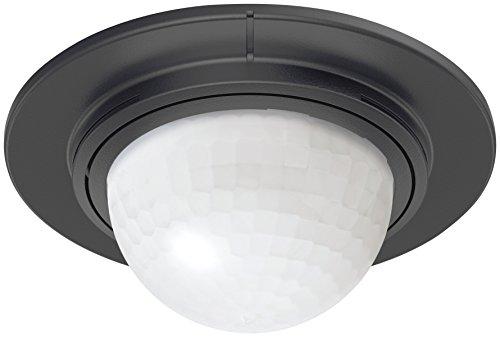 Steinel Inbouw-bewegingsmelder is 360-1 max. 1000 W schakelvermogen, 360 ° sensor, 4 m bereik, geschikt voor led, 1000 W, 240 V. zwart