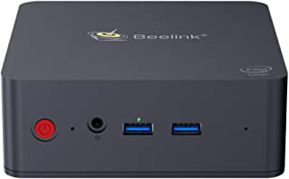 Beelink L55 Mini PC Desktop 8GB Ram 512GB M.2 SSD License Windows 10 Computer Intel I3 5005U Dual 1000Mbps LAN Port,HDMI+DP Dual Screen Display