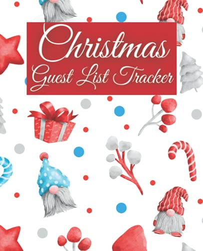 Christmas Guest List Tracker: 7.5' x 9.25' Planner Journal to Track Your Christmas Guests and the Dietary Needs, 120 Pages