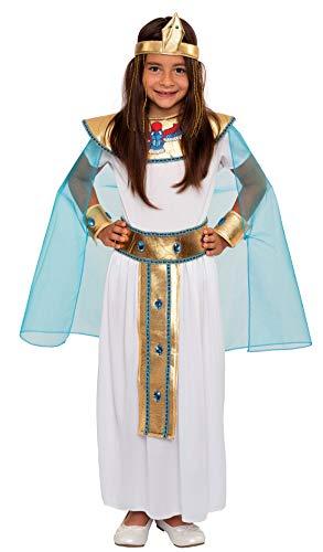 Magicoo Kleopatra - Disfraz infantil de reina egipcia de tallas 116 a 146, disfraz de Cleopatra Pharao, disfraz infantil para carnaval (128/134)