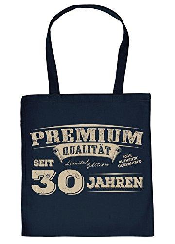 Geburtstag Stofftasche/Jutebeutel/Einkaufstasche mit Fun Motiv: Premium Qualität seit 30 Jahren