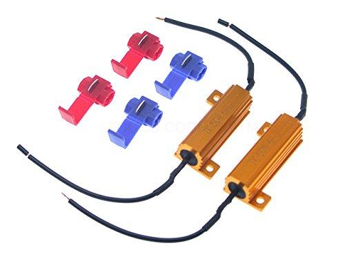 TMT LEDs (TM) Kit de 2 résistances Canbus anti-erreur 50 W 6 ohms Compatible ampoules LED T20 1156 1157