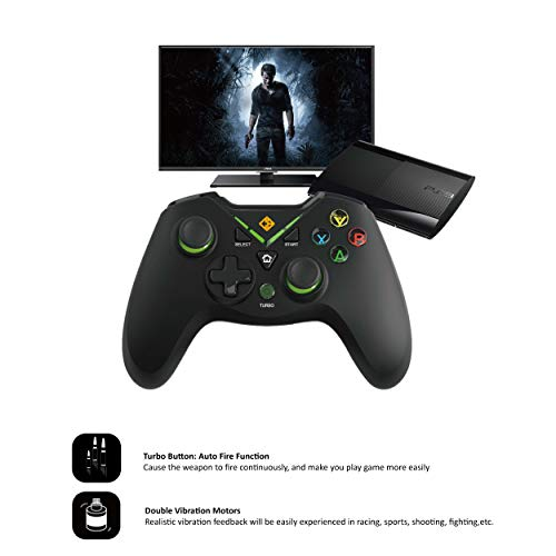 Cosmic Byte C3070W Nebula 2.4G Wireless Gamepad for PC/PS3 supports Windows XP/7/8/10, Rubberized Texture