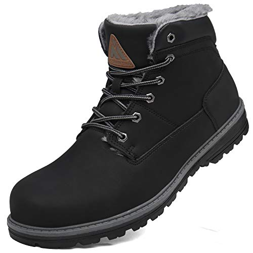 417dTxelaaL. SS500  - Mishansha Winter Snow Boots Men Women Warm Fully Fur Lined Waterproof Booties Non-Slip Lace-Up Outdoor Walking Casual…