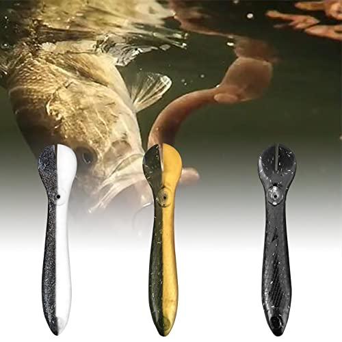 Defeat Señuelo de pesca, cebo artificial de goma, para pesca de lucio, lucioperca, lucioperca, juego de cebo realista para pesca de spinning en peces depredadores como lucio, perca, trucha, lucioperca