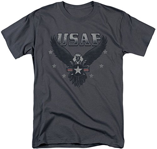 Air Force - - Entrant T-shirt pour hommes, Large, Charcoal