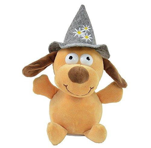 Koegler Laber Hund Bruno mit Hut Aufnahme und Wiedergabefunktion Plüsch Scherzartikel Labertier Laber Tier inkl. Batterien