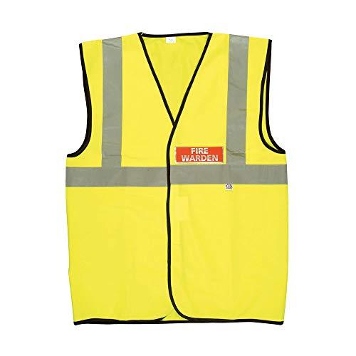 Fire Warden - Chaleco de alta visibilidad (talla XL), color amarillo