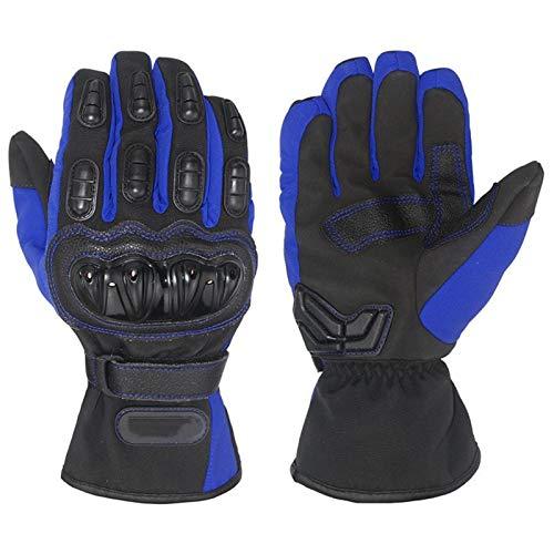 Guantes De Moto, Impermeables Y Cortavientos En Invierno, Pantalla Táctil, Utilizados para Motos, Deportes De Invierno Al Aire Libre (Blue,M)