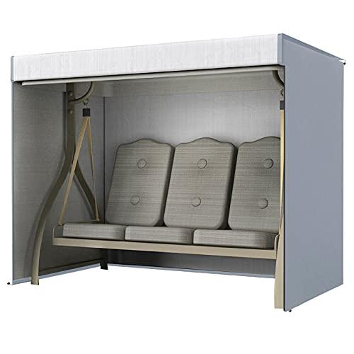 Housse de protection imperméable pour balancelle de jardin 3 places, 220 x 170 x 125 cm, pour extérieur et intérieur (gris)