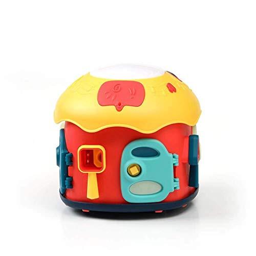 GAOQUN-Baby Toy Bébé Musique Tambourin Rechargeable Jouet Enfants Tambour Éducation Précoce Puzzle 1-3 Ans 0-6-12 Mois Bébé (Color : Multi-Colored, Size : 21.5 * 24cm)
