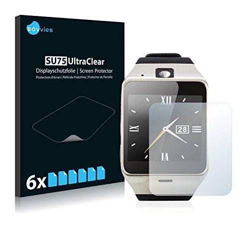 Savvies 6X Schutzfolie kompatibel mit Tera Aplus Displayschutz-Folie Ultra-transparent
