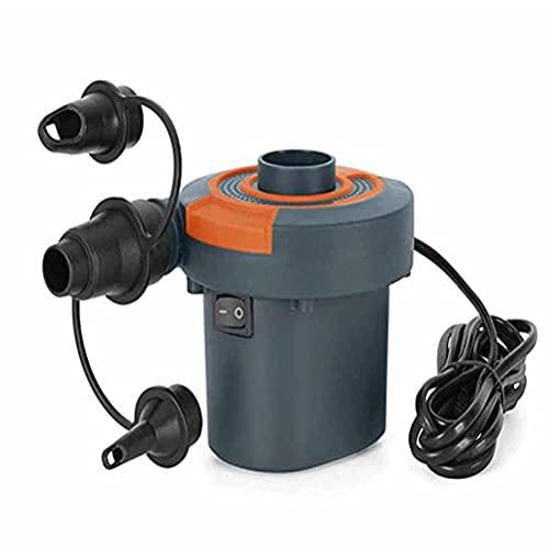 Urisgo Inflador eléctrico, Bomba de Aire, Bomba de inflado con 3 boquillas, boya de colchón Inflable portátil para Camas de Aire, Anillos de natación