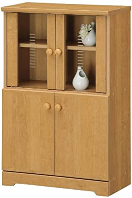 SHIRAI フィルディア 食器棚(小) (高さ91cm) FLD-9060DG