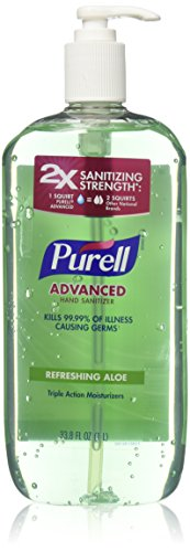 Purell Advanced Hand Sanitizer with Refreshing Aloe 33.8 oz (Pack of 2)