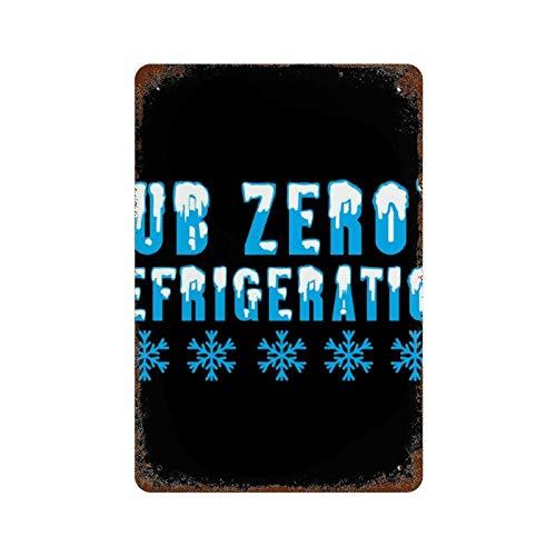 MEUYGOFLZ Mortal Kombat Sub Zeros Refrigeración, Trucker Cap Tema Mural de Hierro, 11.8 × 7.9 cm, pintura de óxido retro, decoración de letrero de metal para interiores