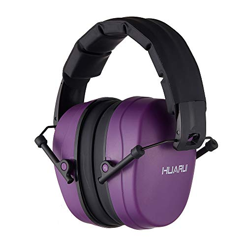 NoiseReductionEarMuffs for Hunting, Shooting Ear Protection Headphones Fits for Adults to Kids Hearing Protection Ear Muffs Noise Cancelling Ear Protector (Purple)