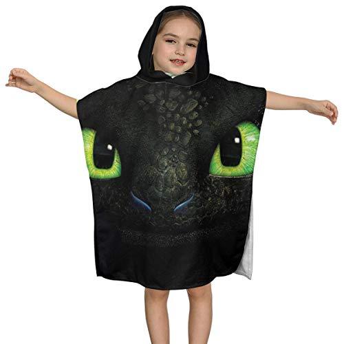IUBBKI Dragon Noir yeux verts Enfants Serviette de bain à Capuche qualité supérieure Doux Ultra Plage Wrap Poncho Cape Maillot de bain couvrir Pour Piscine de Plage