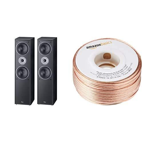 Magnat Monitor Supreme 802 Altavoces de suelo (Potencia RMS/Max: 170-340 W, 4-8 Ohmios) + Amazon Basics Cable para altavoces (calibre 16, 2x1,3 mm², 30,48 m)
