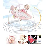 Balançoire pour Bébé, Musique Bouncers pour Bébé Balance Toddler Rocker Chaise À Bascule pour Bébé Chaise Confortable Berceau Pliable Électrique Chaise Longue pour Lit Enfant Shaker,A