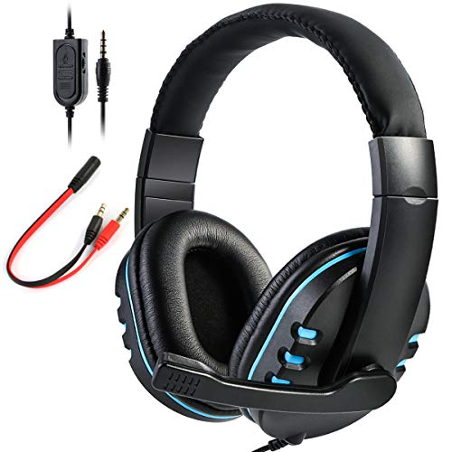 SOONHUA Xbox One, PS4 gaming headset with microphone, over-ear noise isolation bass gaming headphones with microphone surround sound volume control for PC / computers / laptops / cell phones