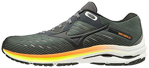 Mizuno Men's Wave Rider 24 Running Shoe, Castlerock-Phantom, 10.5 D US