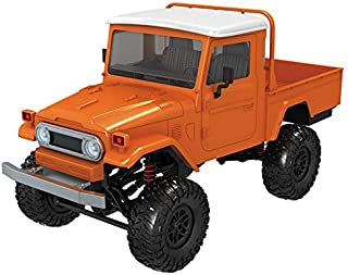 2019 Hot Childrens Day Front LED Light 1:12 4WD RC Car Off-Road Military Rock Crawler Truck Buggy Toys Kids Gift (Orange)