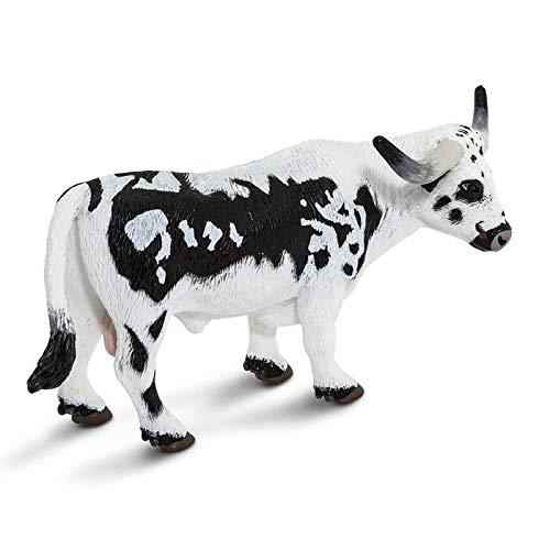Safari Ltd. Safari Farm - Texas Longhorn Bull - Phthalate, Lead and BPA Free - For Ages 3+