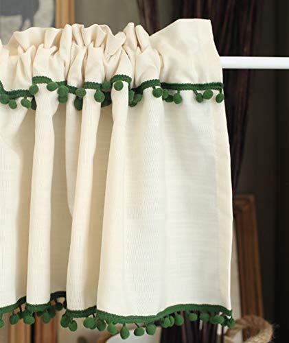 Qucover Tendine Finestra Tendine Oscuranti Tenda Corte Decorazione per Cucina Balcone Camera Parete Bagno Bistrot 150x60 cm Avorio