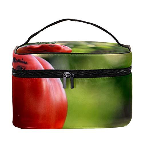 TIZORAX Lustige Tomaten Kosmetiktasche Reise Toilettenartikel Fall Große Make-up Organizer Box