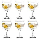 Set de 6 Copas para Gin Tonic, Copas de Cristal para Cóctel, 62cl de Capacidad, Aptas para Lavavajillas